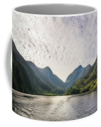 Morning Light Hitting The Docks At Doubtful Sound In New Zealand Coffee Mug