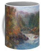 Morning Muse - Original Contemporary Impressionist River Painting Coffee Mug