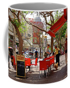 Morning On A Street In Tel Aviv Coffee Mug by Zalman Latzkovich