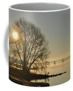 Morning On The Bay Bridge Coffee Mug
