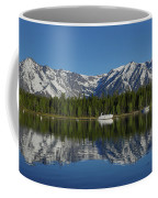 Morning Reflection Boats On Colter Bay Coffee Mug
