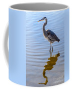 Morning Reflections Of A Great Blue Heron Coffee Mug