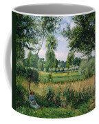 Morning Sunlight Effect At Eragny Coffee Mug by Camille Pissarro