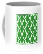 Moroccan Arch With Border In Dublin Green Coffee Mug