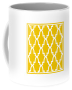 Moroccan Arch With Border In Mustard Coffee Mug