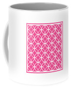 Moroccan Endless Circles I With Border In French Pink Coffee Mug