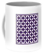 Moroccan Endless Circles II With Border In Purple Coffee Mug