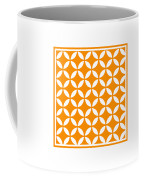 Moroccan Endless Circles II With Border In Tangerine Coffee Mug