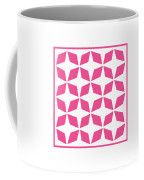 Moroccan Inlay With Border In French Pink Coffee Mug