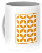 Moroccan Inlay With Border In Tangerine Coffee Mug