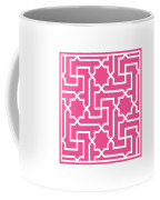 Moroccan Key With Border In French Pink Coffee Mug