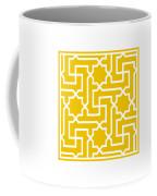 Moroccan Key With Border In Mustard Coffee Mug