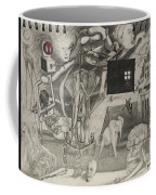 Morphology Of Time And The Omniscient Galactic Swimmer Coffee Mug