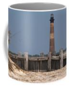 Morris Island Lighthouse Sea Wall Coffee Mug
