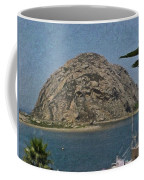 Morro Rock California Painting Coffee Mug