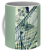 Mosaic And Iron Staircase La Quinta California Art District In Mint Tones Photograph By Colleen Coffee Mug