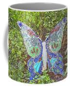 Mosaic Butterfly Coffee Mug