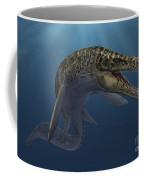 Mosasaurus Hoffmanni Swimming Coffee Mug