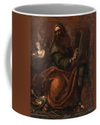 Moses Holding The Tablets Of Law Coffee Mug