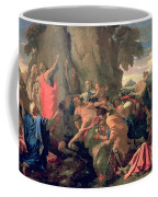 Moses Striking Water From The Rock Coffee Mug by Nicolas  Poussin