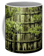 Mossy Bamboo Fence - Digital Art Coffee Mug