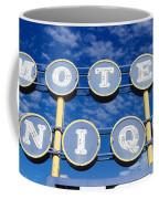 Motel Unique Sign Seligman Az Coffee Mug