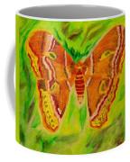 Exuberant Coral Moth Coffee Mug