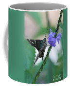 Moth On Blue Flower Coffee Mug