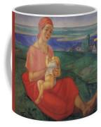 Mother 1 1913 Kuzma Sergeevich Petrov-vodkin Coffee Mug