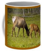 Mother Elk And Fawn Coffee Mug
