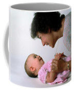 Mother And Baby Girl Smiling Coffee Mug