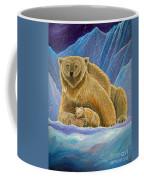 Mother And Baby Polar Bears Coffee Mug