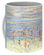 Mother And Child At The Beach Coffee Mug