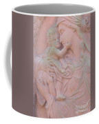 Mother And Child In Red Sandstone Coffee Mug