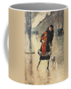 Mother And Child On A Street Crossing Coffee Mug