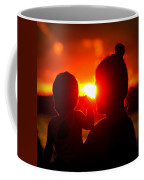 Mother And Child On Sunset Coffee Mug