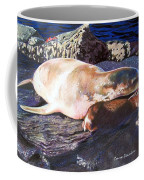 Mother And Child Sea Lion Coffee Mug