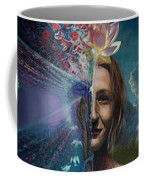 Mother And Son - Passing The Torch Of Vision Coffee Mug