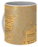 Motherboard - Printed Circuit Coffee Mug by Michal Boubin