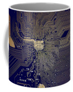 Motherboard Architecture Blue Coffee Mug