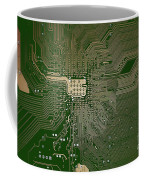 Motherboard Architecture Green Coffee Mug