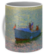 Motor Yacht At Spruce Point Boothbay Harbor Maine Coffee Mug