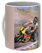 Motorcycle Racing Coffee Mug by Graham Coton