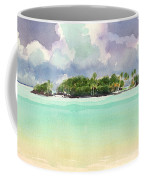 Motu Rapota, Aitutaki, Cook Islands, South Pacific Coffee Mug by Judith Kunzle