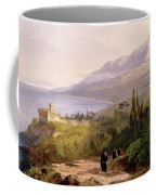 Mount Athos And The Monastery Of Stavroniketes Coffee Mug by Edward Lear