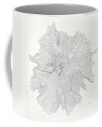 Mount Hood Black Elevation Contours Vintage Coffee Mug