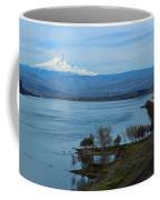 Mount Hood With Train Coffee Mug