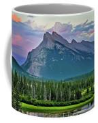 Mount Norquay At Dusk Coffee Mug