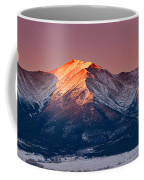 Mount Princeton Moonset At Sunrise Coffee Mug