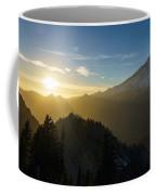 Mount Rainier Golden Dusk Light Coffee Mug